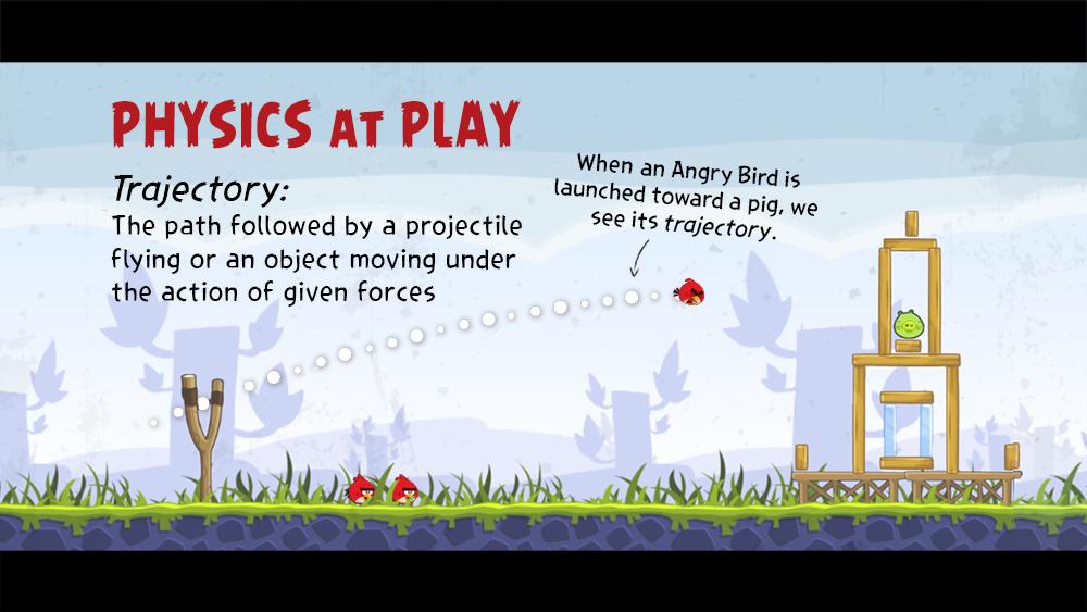physics at play trajectory trivia loop slide