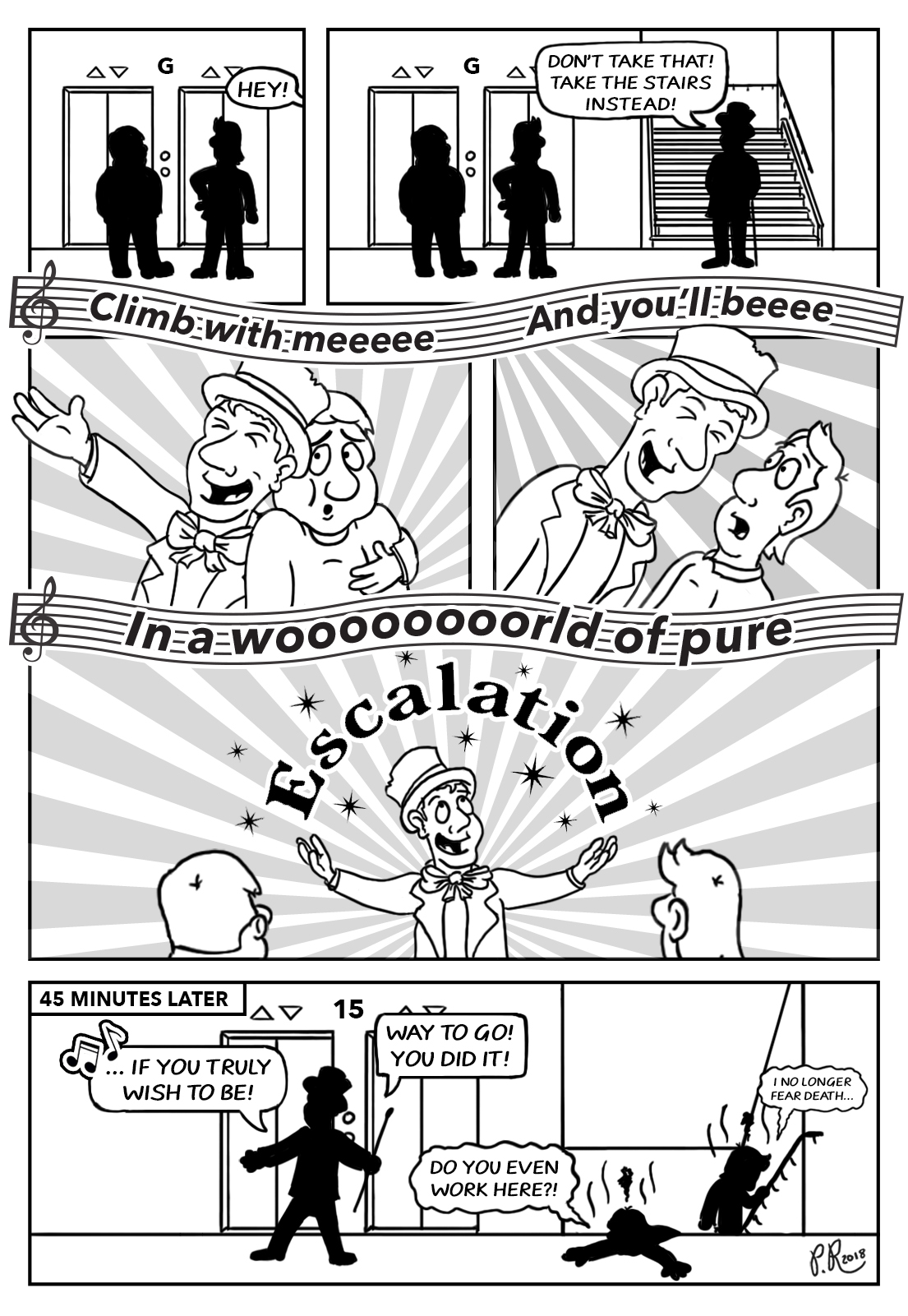 pure escalation comic