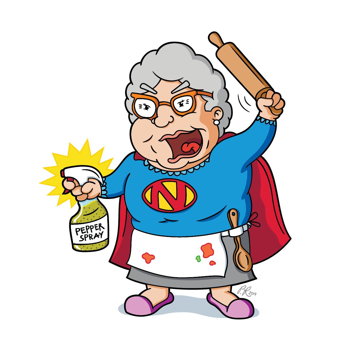 super nonna cartoon