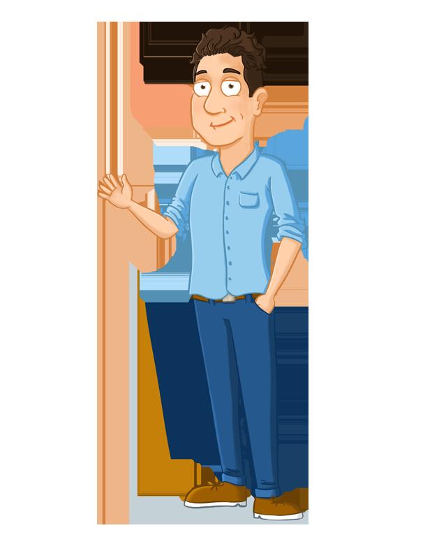 homepage cartoon