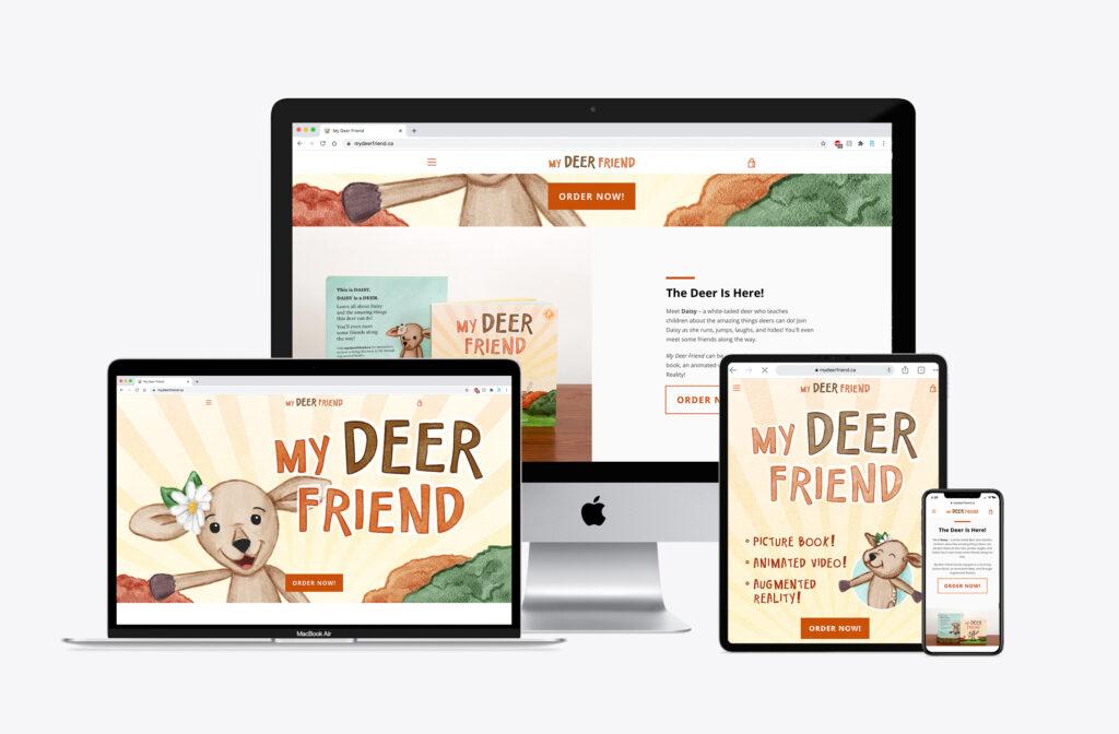 my deer friend website mockups